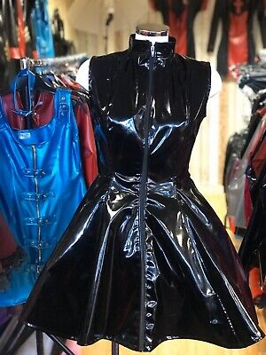 Misfitz top quality blk Pvc skater mistress dress size 26 TV Goth Cross-dresser