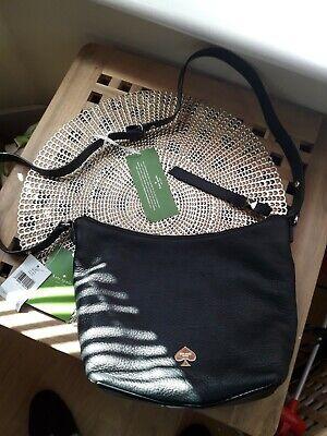 Genuine Kate spade Lee roy street, Vivienne bag, black leather, cross body