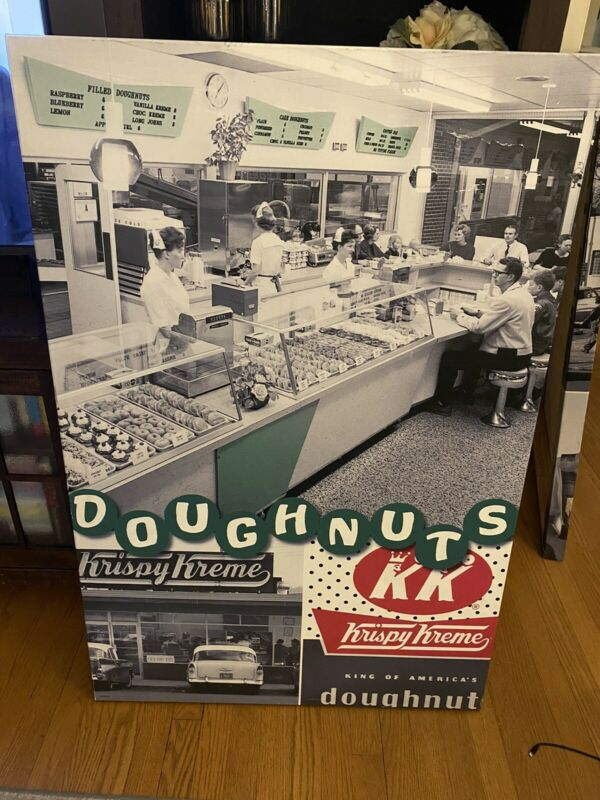 Authentic Krispy Kreme Doughnut Wall Canvas From Store 45.5 By 30 Inches 2013