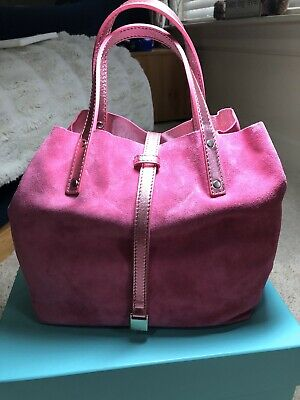 Authentic Tiffany  & Co Reversible Pink Leather Tote With Pouch.