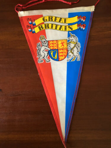 Vintage European travel Pennants/Flags Great Britian