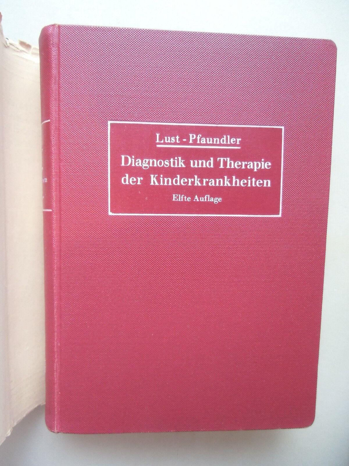 2 Bücher Diagnostik Therapie Kinderkrankheiten 1940 Anatomie des Menschen 1942