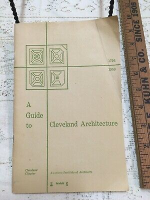 1958 Vintage A Guide To Cleveland Architecture American