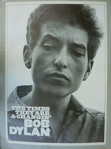 RARE BOB DYLAN THE TIMES THEY ARE A CHANGIN 1964 REPRO PROMO MUSIC POSTER