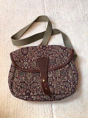 J&M Davidson Women's Tapestry & Leather Cross Body Shoulder Bag