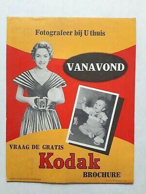 VINTAGE PHOTO PLV POS ADVERTISING KODAK STORE DISPLAY 1950'S? 22.7X29.5CM