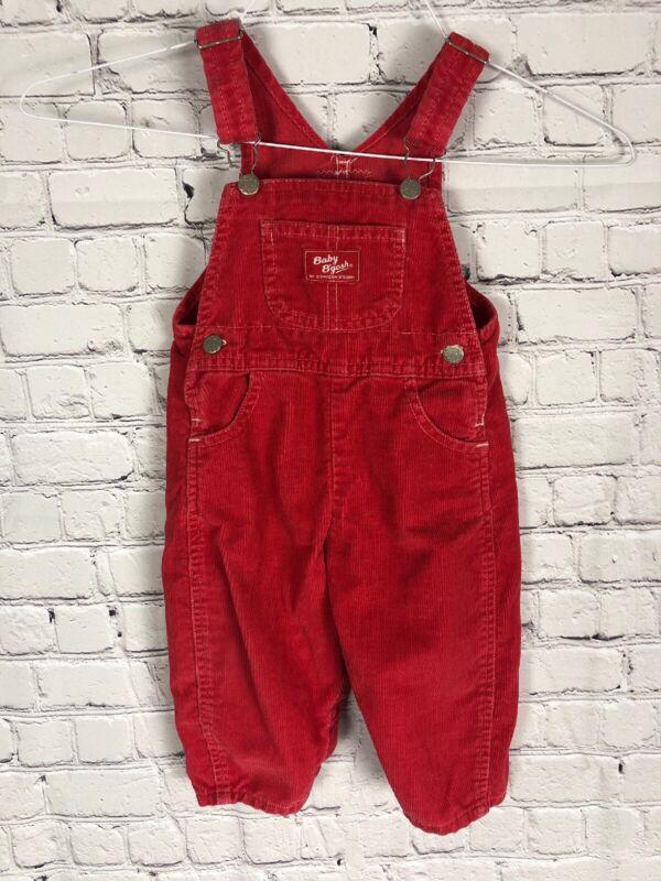 Vintage Osh kosh Baby Bgosh Corduroy Bib Overalls Size 18 Months Holiday