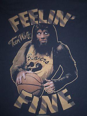 Teen Wolf T-Shirt Feelin' Fine Retro 80's Tee Micheal J. Fox Basketball Werewolf