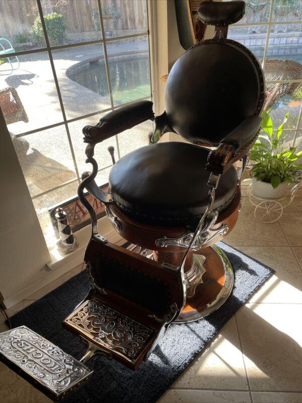 Vintage Oak Kochs  Barber Chair