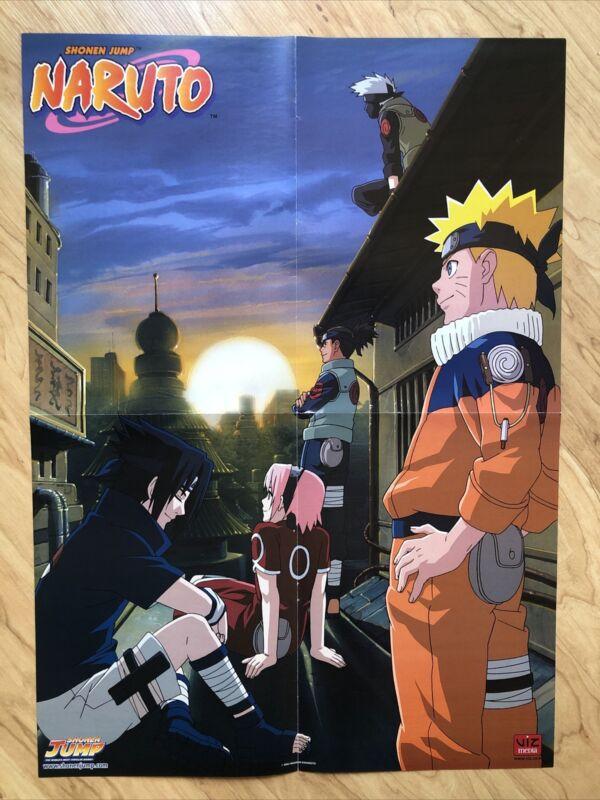 "2008 Shonen Jump NARUTO GAARA SASUKE Double Sided POSTER VIZ MEDIA 15 3/4 x 22"""
