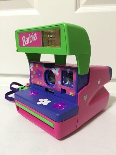 Vintage Barbie Polaroid Instant One Step 600 Camera Original Purple Strap