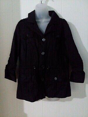 Chicos Sz 1 black Jacket ..54%cotton,42%nylon,4%metalic..Lining:100%polyester