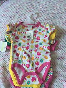 Nwt girl onesies 3-6 months