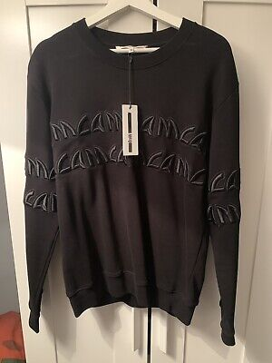 McQ Alexander McQueen / Mens Crew Sweatshirt Sweater Black / Medium / Brand New