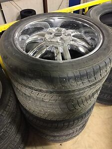 "22"" Used Chrome rims & tires from a Suburban"