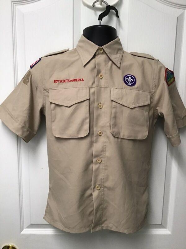 Boy Scouts Of America Official Uniform Shirt Khaki Size Medium 575