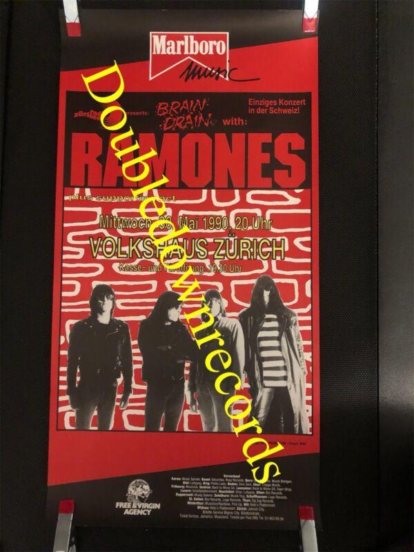 VTG Ramones Concert Poster 1990 Original Very Rare Punk Rock Switzerland CBGB OG