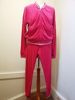 Juicy couture tracksuits set size M HOT PINK Just used once