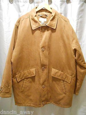 Cutter & Buck Mens XL  Microfiber Tan Coat  Cutter & Buck Microfiber Vest