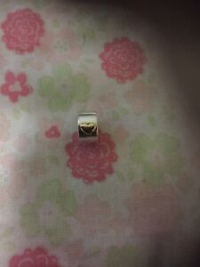 Authentic Pandora Two-Tone 14kt Gold and Silver Clip
