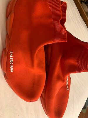 balenciaga all red speed trainer sneaker size EUR 40 (pre-owned, gently used)