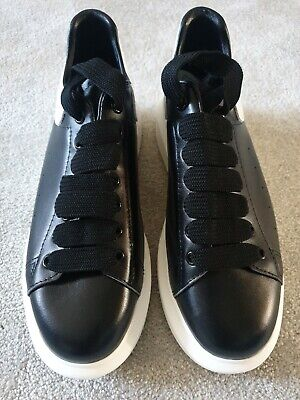 Alexander Mcqueen Ladies Trainers.  Black.  Size 39 / 6