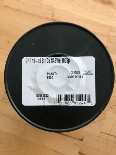 Coleman Cable 100 ft. Stranded 10 Ga. Primary Wire SPOOL CRACKED