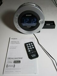 Sony CD Dream Machine ICF-CD3iP AM/FM iPod/iPhone Dock Radio Alarm Clock Player