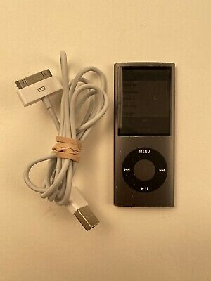 Apple iPod Nano 4th Generation A1285, Grey 8GB L15 Bundle Working Cord