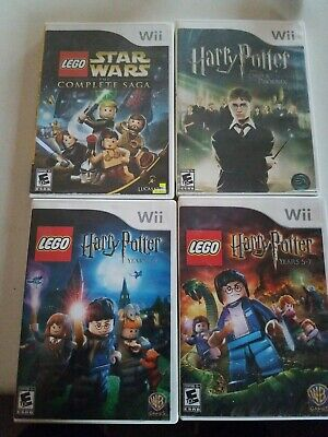 LEGO Harry Potter: Years 1-4 & 5-7 Lego Star Wars Nintendo Wii 4 game Lot