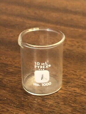 Vintage Pyrex 10 Ml Lab Glass Flask No. 1000