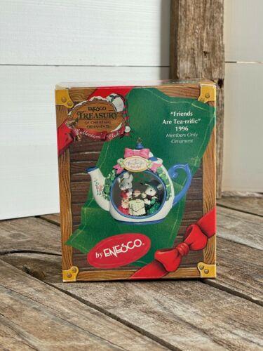 ENESCO CHRISTMAS ORNAMENT: Friends are Tea-rrific 1996