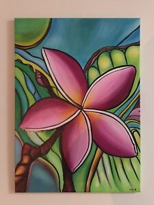 Frangipani painting Yorkeys Knob Cairns City Preview