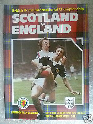 1980 Official Programme SCOTLAND v ENGLAND, 24 May