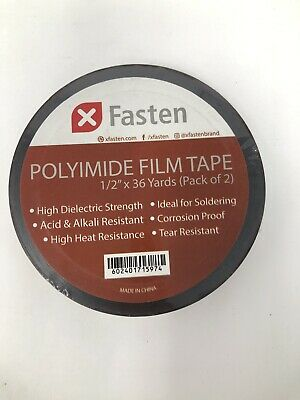 Fasten Polyimide Film Tape 12 X 36yds Pack Of 2 New