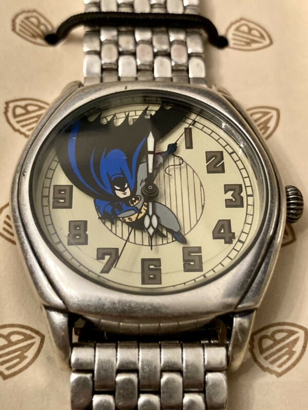 Batman The Animated Series Fossil Watch Timepiece Warner Bros. Collection 1996