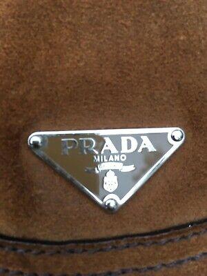 Prada brown suede handbag vintage 2005