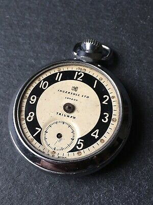 Vintage Men's Ingersoll Ltd Triumph Pocket Watch For Spares Or Repair
