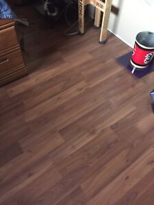 Warm cherry wood laminate hardwood