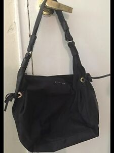 Kate Spade Black Leather & Nylon Purse Large!