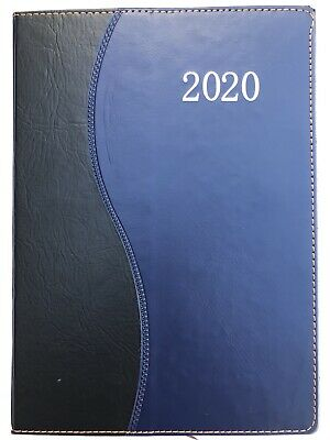 Daily 2020 Planner 7.5x10.5 Agenda Appointment Book Calendar - Blue Wave
