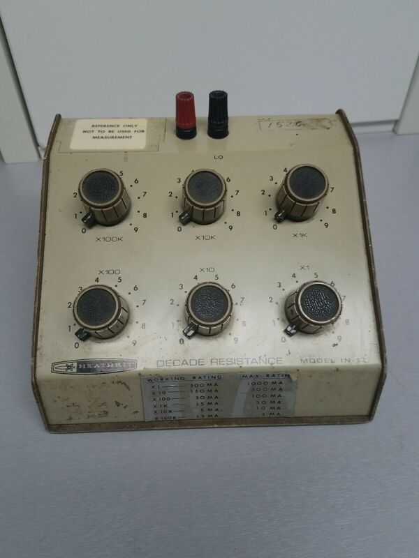 HEATHKIT  DECADE RESISTANCE  BOX IN-17  Tested / Working