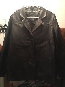 Brown faux leather jacket size 10/12