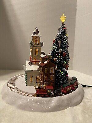 Mr. Christmas Winter Wonderland Village Christmas Train LED-Lit Tree Music