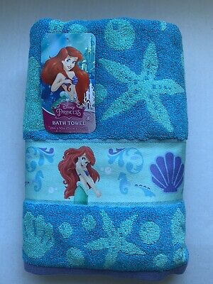 Disney Little Mermaid Ariel Seashells Cotton Bath Beach Pool Towel 28