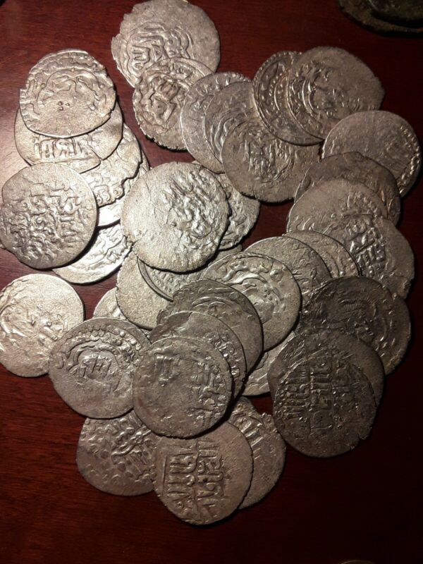 Seljuq of Rum Silver Dirham. Medieval Islamic Coin 1300s AD. Crusader era. 1 per