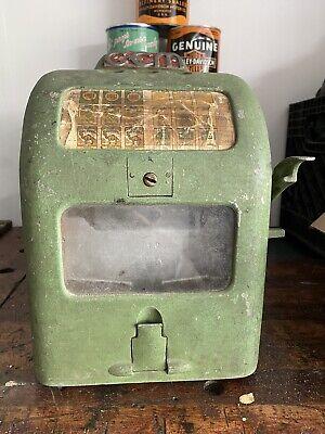 Old 1936 GEM Garden City Mfg. 1 Cent Coin Op TRADE Simulator Cigarettes