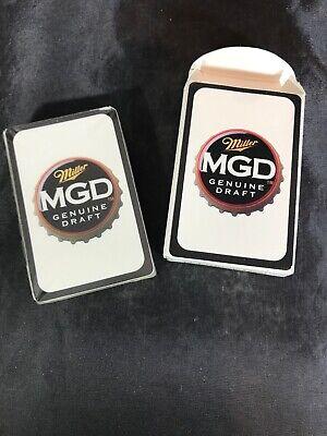 SEALED- Miller Genuine Draft MGD Playing Cards