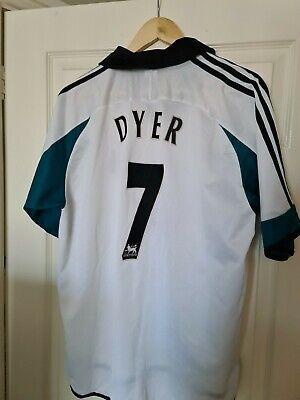 Newcastle United Away Football Shirt Jersey 1999/2000 Adidas Dyer Large  image