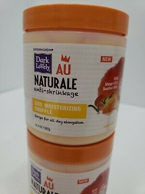 (2)Dark & Lovely Au Naturale Anti-Shrinkage Curl Cream Moisturizing  14.4